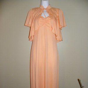 Vintage Peach/ coral maxi dress set